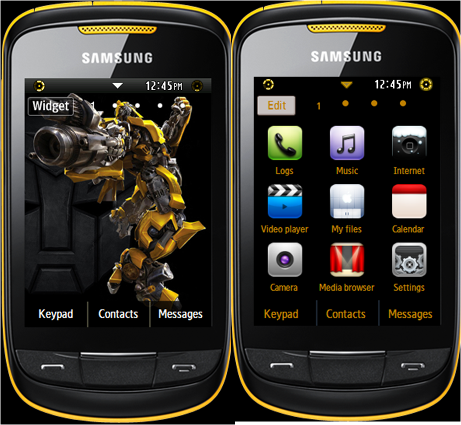 samsung corby themes mobile9