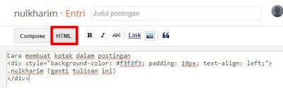 Cara membuat kotak script blog