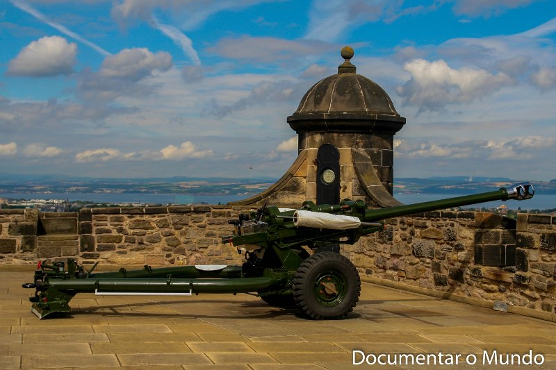 One o'Clock Gun; Castelo de Edimburgo; Edinburgh Castle