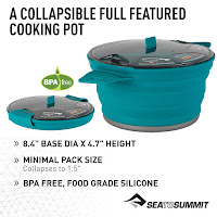 Sea to Summit 2.8 Liter X-Pot, Pacific Blue, Large