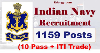 Join Indian Navy Recruitment 2021 for Tradesman 1159 Posts