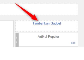 tambahkan widget diblog