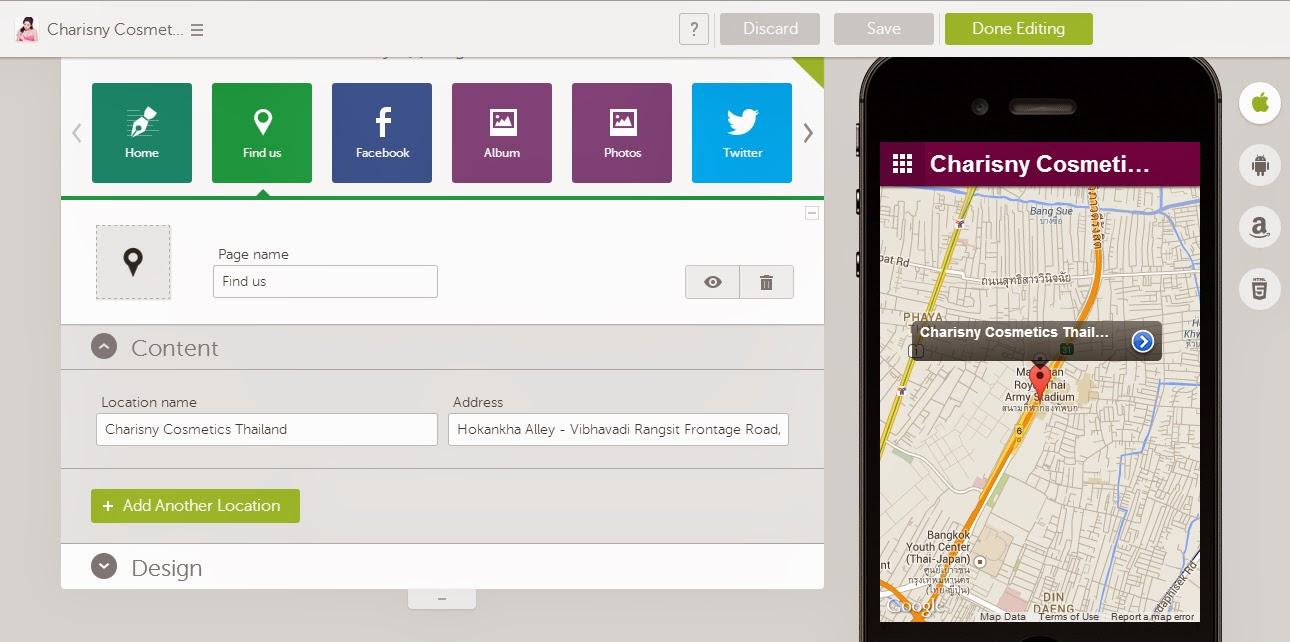Mobile App Map
