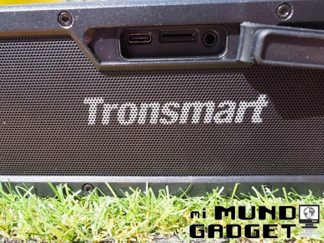 Tronsmart Element Force: entrada USB Tipo C + ranura SD + salida de 3.5 mm