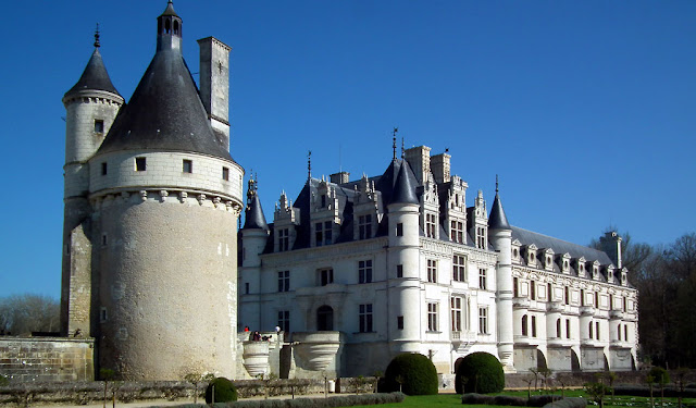 Chateau de Chenonceau.  Indre et Loire, France. Photographed by Susan Walter. Tour the Loire Valley with a classic car and a private guide.