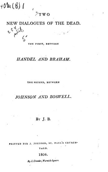 Handel vs John Braham