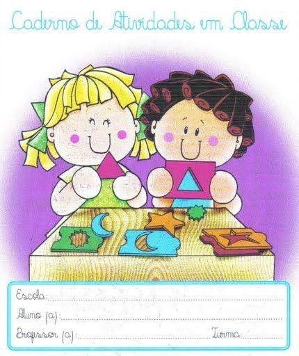 Capas Para Cadernos Coloridas Frentes Ou Primeira Pagina Para