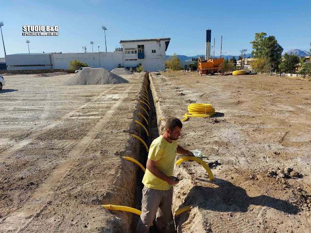 Ι.Μαντζούνης: Ξεκίνησαν τα έργα στο γήπεδο του Ολυμπιακού Λουτρακίου - Παραδίδεται τέλος του μήνα το γήπεδο του Τολού