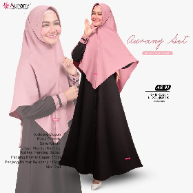 A-AS01 Hitam Dusty Purple Aurany Fashion