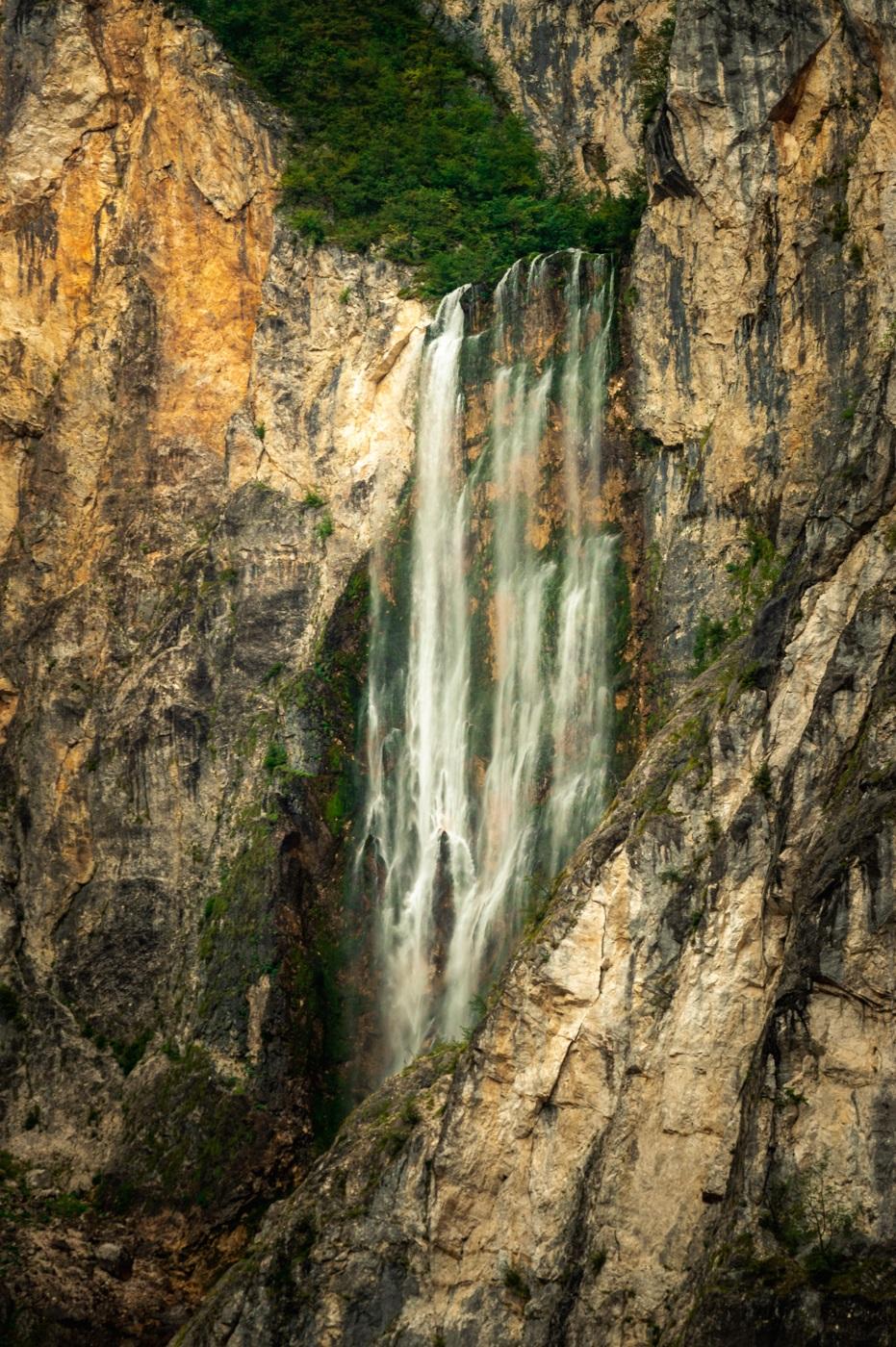 Wodospad Slap Boka Słowenia Dolina Soczy