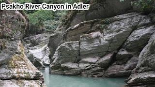 Psakho River Canyon in Adler