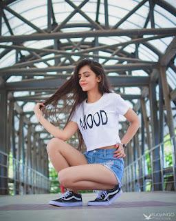 stylish girl poses for photoshoot