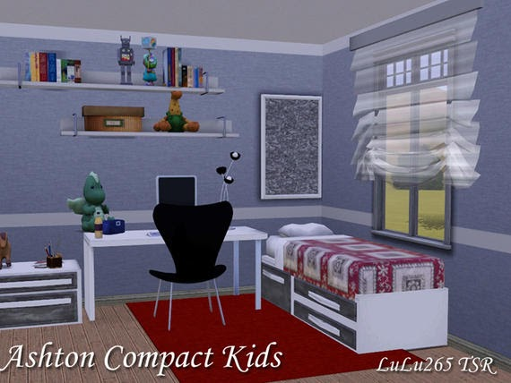 Totally Kids Totally Bedrooms: Totally Sims 3 Updates: Ashton Compact Kids Bedroom