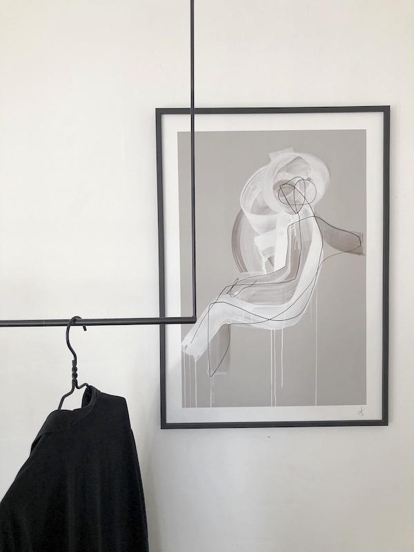 coat rack print poster gallery wall