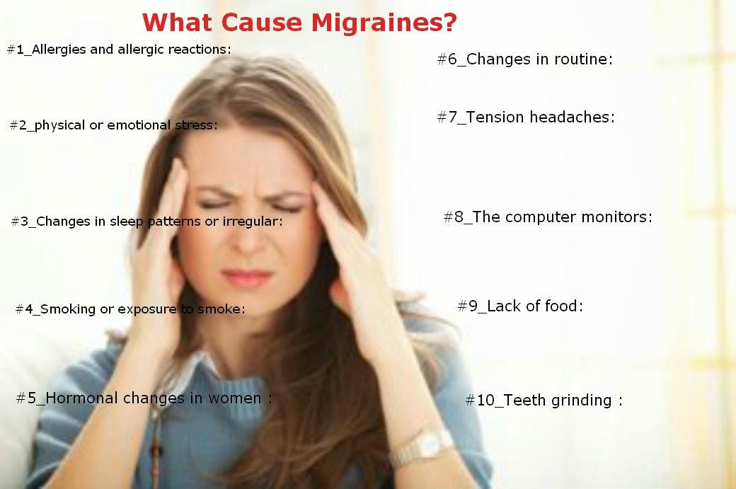 Triggering factors for Migraine