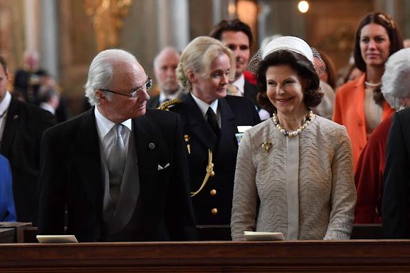Sweden Royals attend 'Te Deum' service at the Royal Chapel.Sofia Hellqvist, Lina Hellqvist, Sara Hellqvist, Erik Hellqvist, Marie Hellqvist