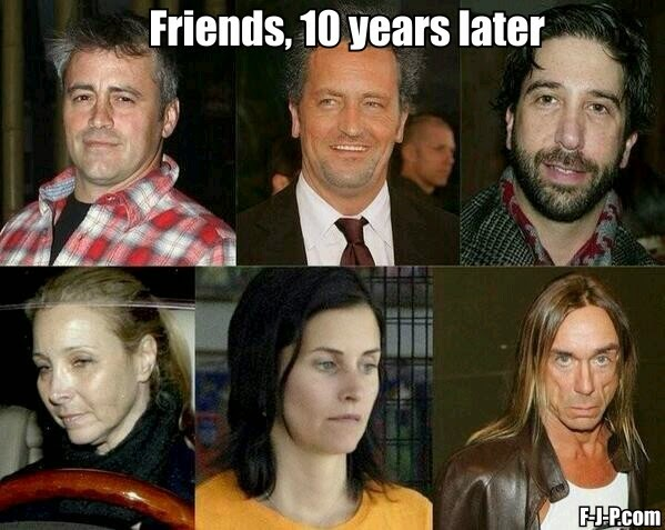 Friends, 10 years later - funny joke meme picture