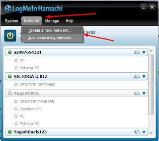 Hamachi, Network, Create a new network