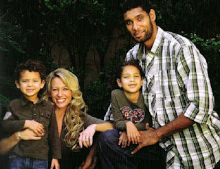 Amy Sherrill with her ex-husband Tim Duncan and their kids