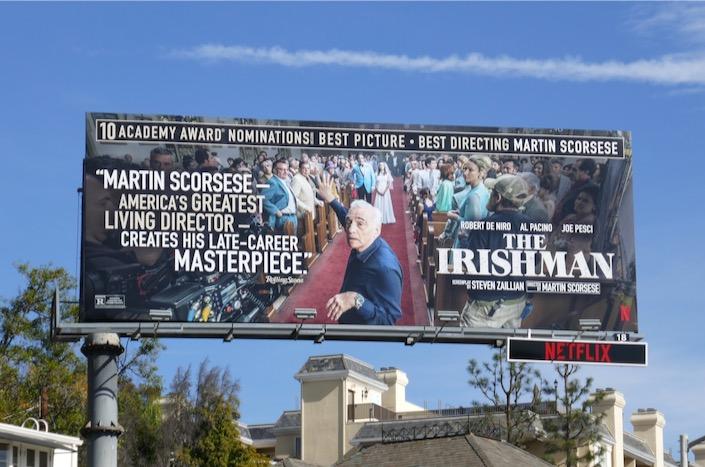 Irishman Oscar nominee billboard