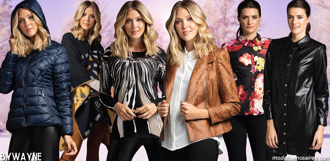 MODA INVIERNO 2019: Ropa de mujer estilo casual urbano y elegante. Pantalones, vestidos, camperas, sacos, ponchos y blusas invierno 2019.