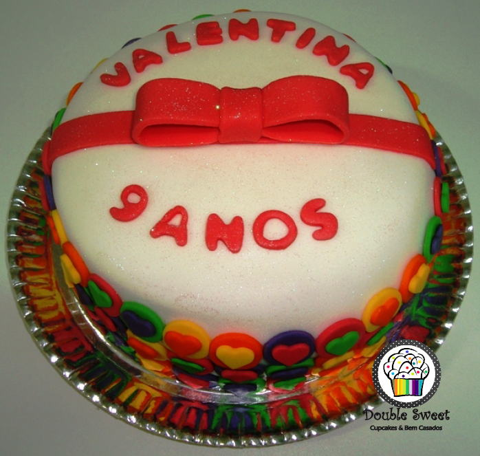 Double Sweet Cupcakes E Bem Casados Brasilia Df Bolo Decorado Valentina 9 Anos