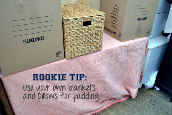 Don't pay for moving blankets if you have plenty of blankets and pillows to cushion valuables