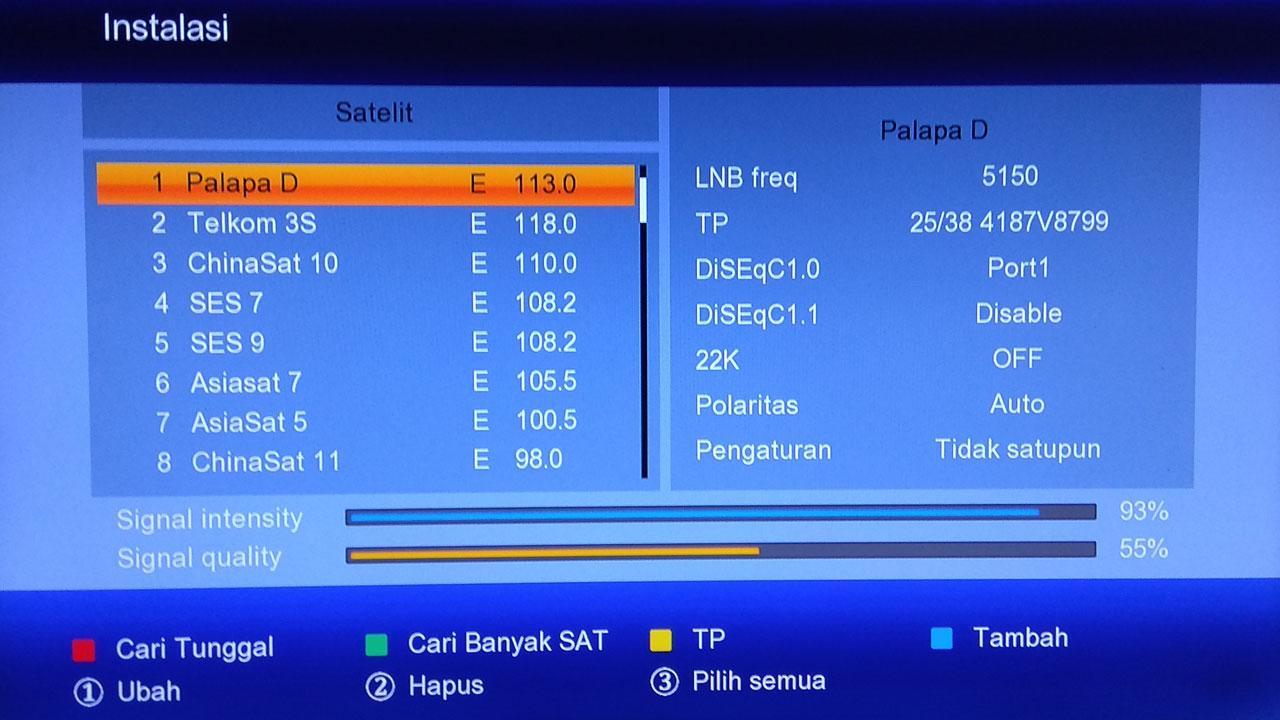 Pengaturan Antena Parabola Matrix Burger S2 K0S K5S