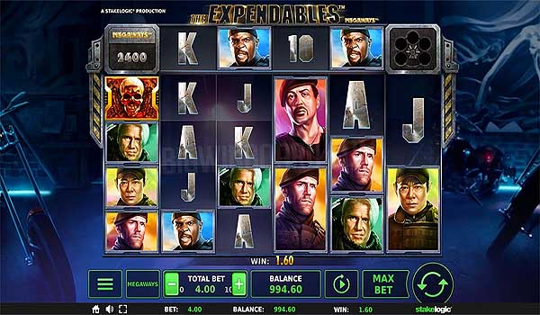 Main Gratis Slot Indonesia - The Expendables Megaways (Stakelogic)