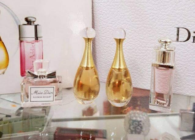 Set Bộ Nước Hoa Dior Mini 4 chai vỏ hộp trái tim hồng