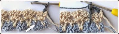 Tığ işi Bebek Battaniye Modeli 3