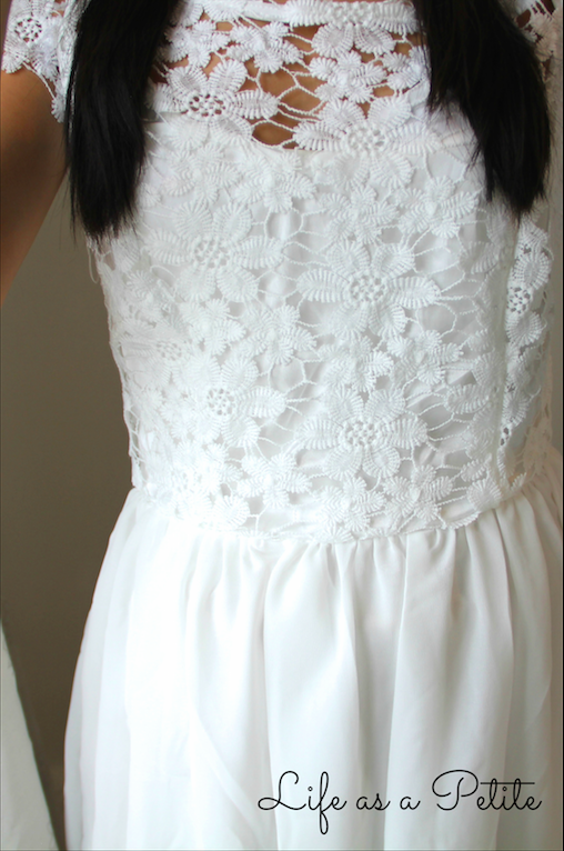 Lace White Dress - Life as a Petite