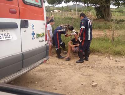Acidente de moto deixa duas pessoas feridas na zona Rural de Monteiro