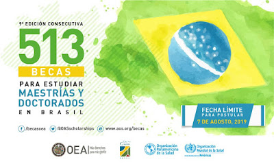 Postula para las becas de la OEA para varias maestrías y doctorados