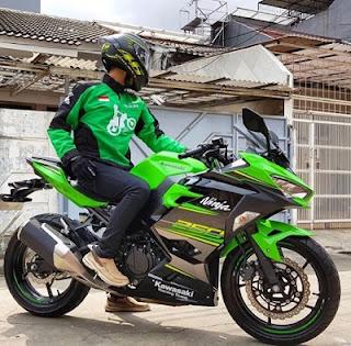 petualangan ojek online Kawasaki Ninja 250 cc 2018