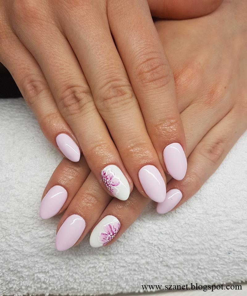 flower nails art, paznokcie, kwiaty