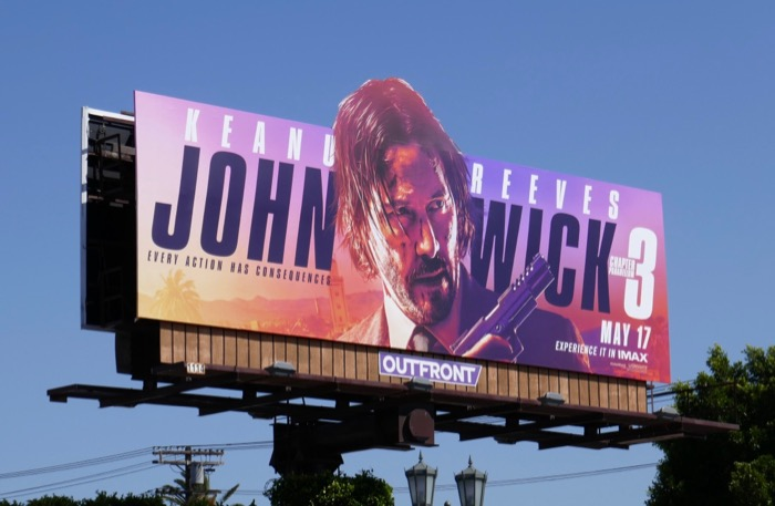 John Wick Chapter 3 cutout billboard