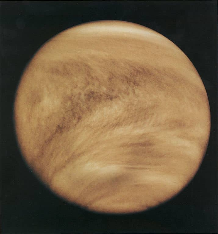 Venus' dense atmosphere