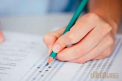 doa mengikuti ujian ulangan tes