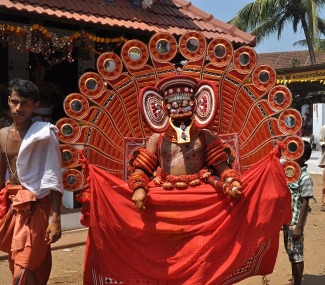 Theyyam With Silver Mask