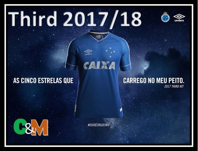 9e298acbae Agora, é apresentada a camisa THIRD do clube para 2017/18. Com layout  simples mas com muito arrojo nas escolha do