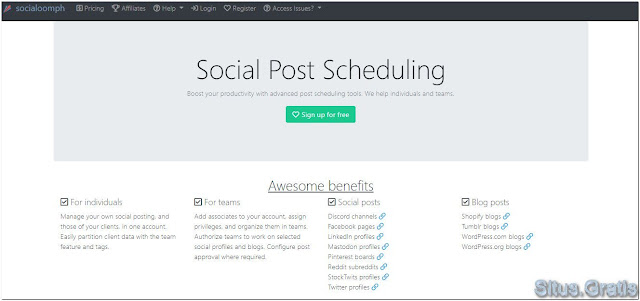 SocialOomph membantu Anda meningkatkan produktivitas media sosial