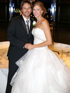 Kevin Federline with his wife Victoria Prince in their wedding dress