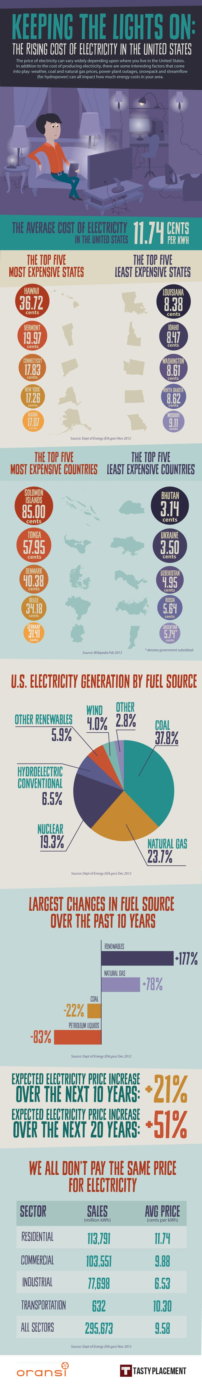 The-Rising-Cost-Of-The-Electricity #infographic