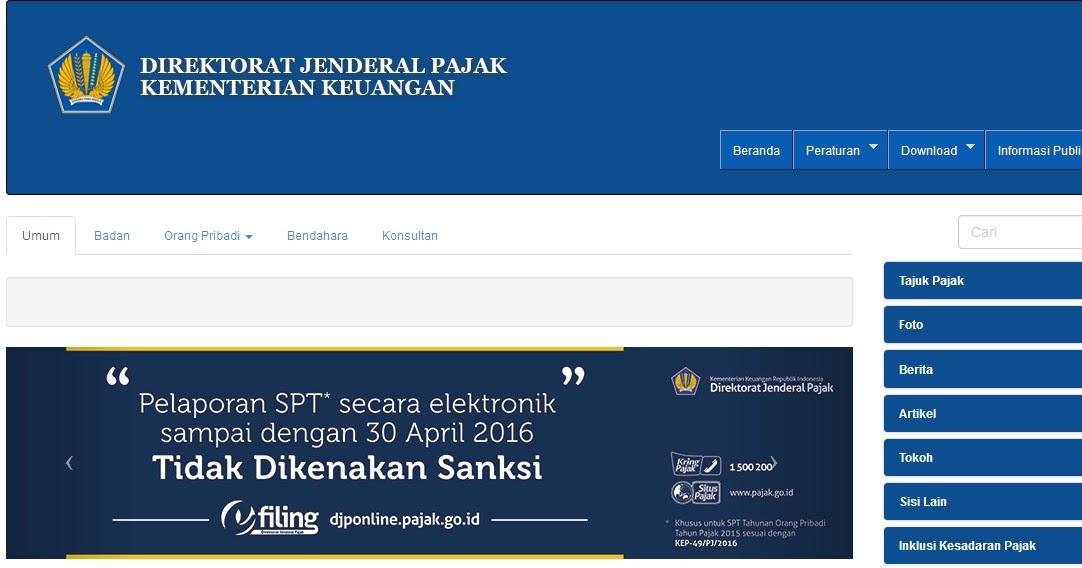 Download Aplikasi E Spt Tahunan Pph Orang Pribadi Sdn 2 Pasar Batu