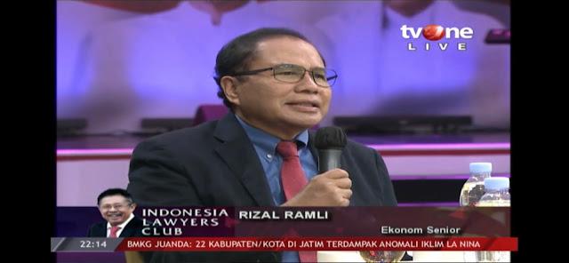Rizal Ramli: Tahun ke 6 Pemerintahan Jokowi, Indikator Ekonomi Merosot