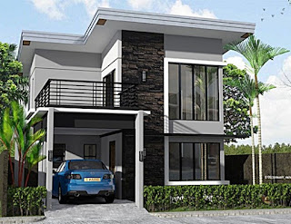Lampung interior house - picture of a minimalist 2-storey luxury house
