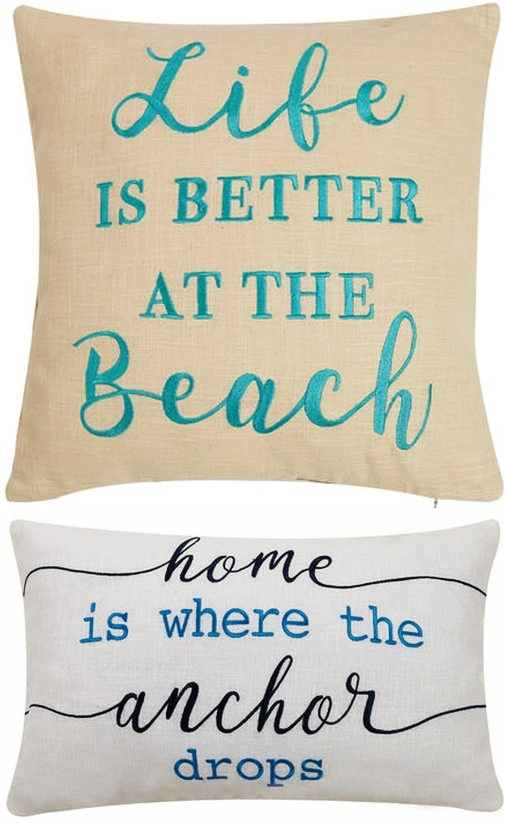 Shop Embroidered Quote Pillows