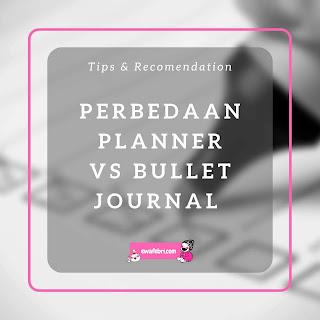 planner vs bullet journal