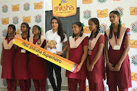 Actress Priya Anand in T Shirt with Students of Shiksha Movement Events 58.jpg
